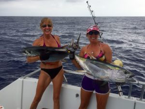 Lori and Laura went doubles on Yellow Fin Tuna