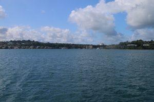 Coming into Port Villa