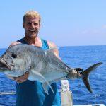 Giant Trevely, GT, Vanuatu fishing