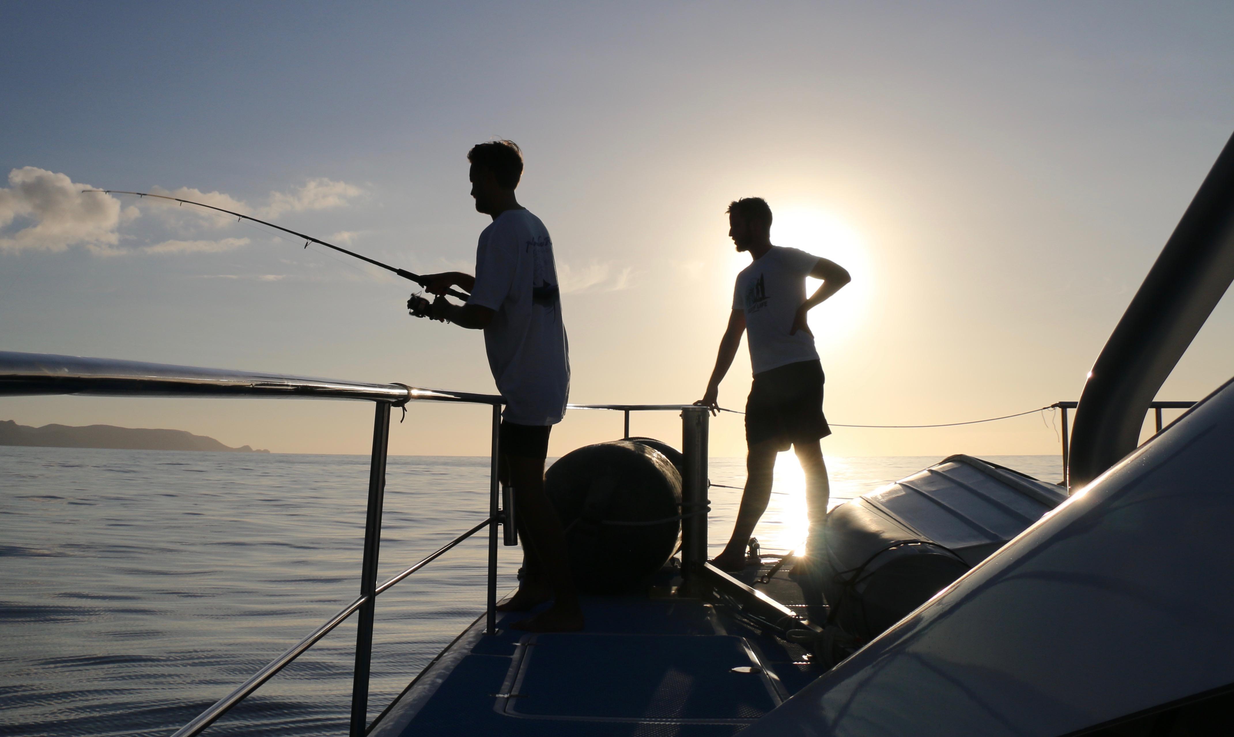 fishing on November Rain