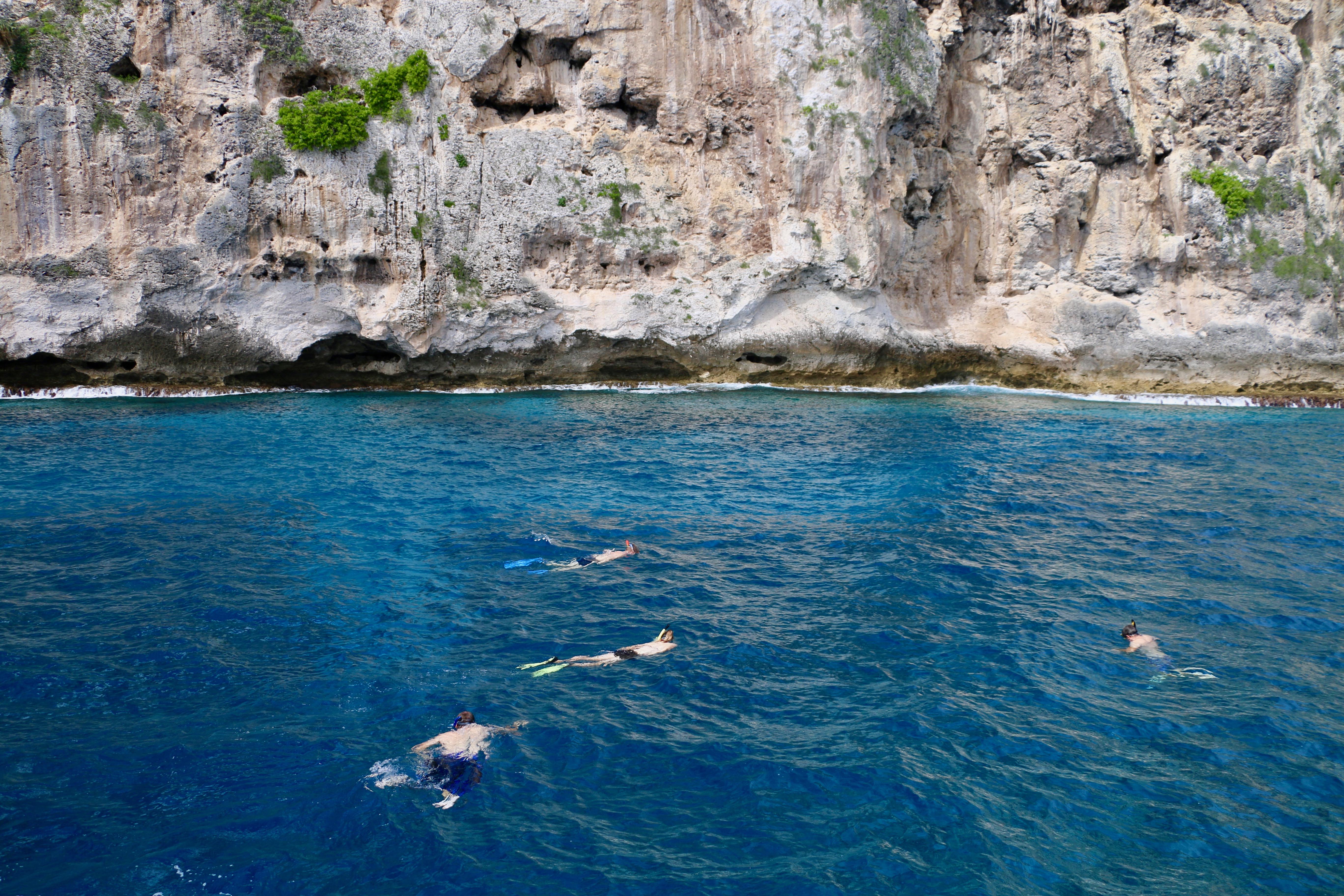 November Rain's crew snorkeling on Walpole Island