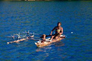 Natives canoe
