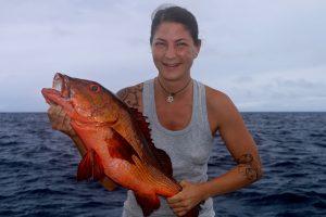 Red Bass, Vanuatu red bass, game fishing vanuatu, sports fishing vanuatu