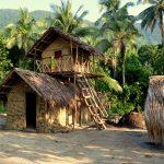 two story thatch hut, vanuatu, banks islands, ureparapara, sport fishing, gam