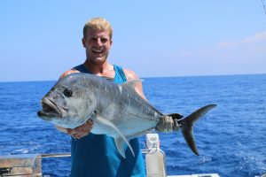 vanuatu, sport fishing, giant trevelly, game fishing, november rain, vanuatu fishing,