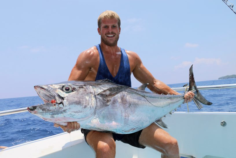 Dog tooth tuna, jigging, vanuatu fishing, santo charter fishing,